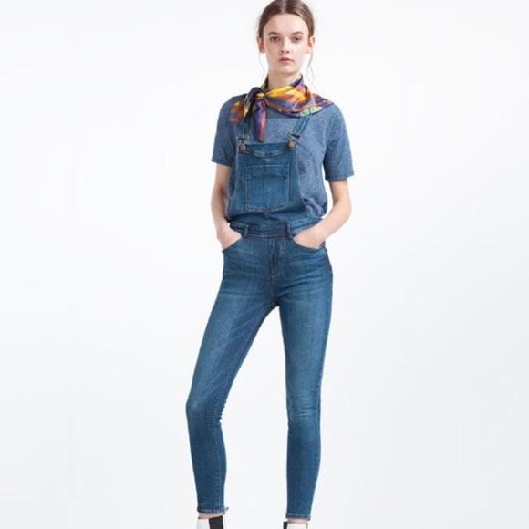 Zara Denim - Zara skinny overalls